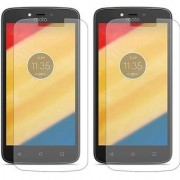 Mobik Tempered Glass for Motorola Moto C Plus - Pack of 2
