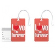 100yellow Luggage Tags- Love Quotes Printed High Quality PVC Tag with Silicon Strap- Ideal For Gift-Pack Of 2 Luggage Tag(Multicolor)