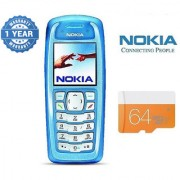 Nokia 3100/ Good Condition/ Certified Pre Owned (1 Year Warranty) with 64GB Memory Card