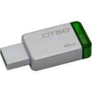 Kingston Metal USB Flash Drive DT50 16 GB Pen Drive(White, Green)