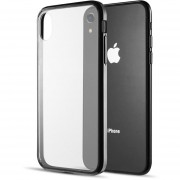 Funda Case Iphone Xs MAX De Acrilico Transparente - Negro