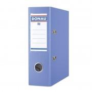 Biblioraft A5, plastifiat PP, margine metalica, 75 mm, DONAU - bleu