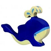 Fa játék állatok - kék bálna