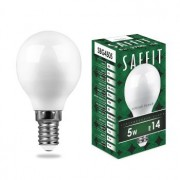 Лампа светодиодная Saffit SBG4505 G45 5W E14 4000K 55024