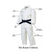 Kimono alb din bumbac pentru karate Dream