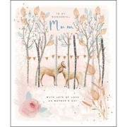 grote moederdagkaart woodmansterne - to my wonderful mum - with love on mother's day - paarden