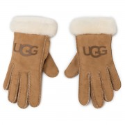 Дамски ръкавици UGG - W Sheepskin Logo Glove 18691 Chestnut