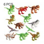 6 En 1 Intelligent Toys DIY ABS Material Building Blocks Dinosaurios, Estilo Al Azar Entrega