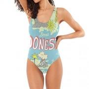 Senwei Indonesia Ocean Bañador de una pieza para mujer, chica, control de barriga sin espalda, Multicolor, M
