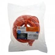 Solight prodlužovací kabel - spojka, 1 zásuvka, oranžová, plochá, 30m PS28