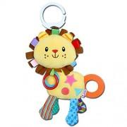 Yoovi Baby Rattle Toy Kids Stroller Hanging Bell Puppet Hand Bells Baby Car Crib Stroller Toys- Lion