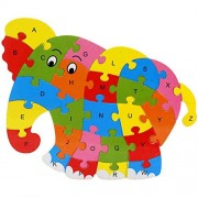 Biutiy Early Education Wooden Jigsaw Puzzles 26 Alphabets Cartoon Animal Puzzle Toy