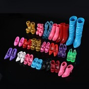 New Fashion Mix 24pcs/12Pairs Shoes Boots For Doll Toy Girls Dolls Accessories Play House Party Xmas Gift Random Color