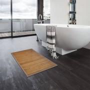 vidaXL Tapis de bain Bambou 2 pcs 60 x 90 cm Marron
