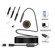 NTR ECAM09 Vízálló endoszkóp kamera 640x480 5,5mm átmérő 6LED USB-C/microUSB/USB 3m