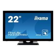 "IIYAMA ProLite T2236MSC-B2 - LED-monitor - 22"" (21.5"" zichtbaar) - aanraakscherm - 1920 x 1080 Full HD (1080p) - A-MVA - 250 cd/m²"