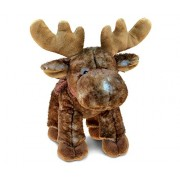 Puzzled Standing Brown Moose Super - Soft Stuffed Plush Cuddly Animal Toy / Wild Animals Theme 13 Inch (5392)