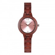 Bedate Women's Classic Bamboo Rose Wood Watch