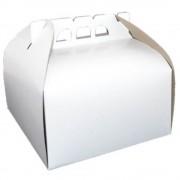 Cutii Albe pentru Tort CT9, 33x33 cm, 25 Buc/Bax, Carton Duplex - Ambalaje Patiserie