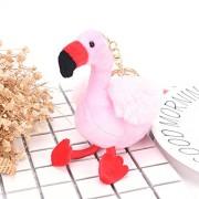 AST Works New Cute Fluffy Unicorn Flamingo Pendant Key Chains Plush Car Bag Key Chain EP