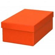 Geen Oranje cadeaudoosje 17 cm rechthoekig