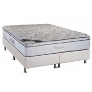 Colchão Luckspuma Pocket Platinum+Cama Box - King 193