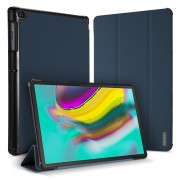DUXDUCIS Domo Series Cloth Texture Tri-fold Stand PU Leather + PC Smart Case for Samsung Galaxy Tab S5e SM-T720 - Blue
