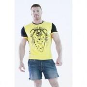 Epatage Стильная мужская футболка с принтом льва желтого цвета Epatage RTyb164m-EP