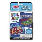 Melissa and Doug On The Go Foil Art Vehicles Activity Set, Multi Color