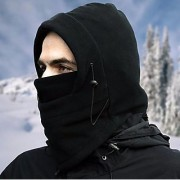 THERMAL FACE MASK FLEECE BALACLAVA HOOD Unique Biker mask half face with mouth Head Neck Cover for Winter