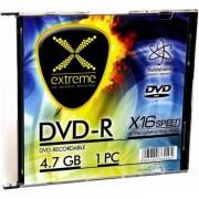 Pachet cu discuri pentru stocarea de informatii , Esperanza , Extreme 1168 DVD/R 16x 4.7GB 200 bucati , argintiu