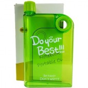 Notebook Portable Cup Slim water bottle Green 380 Ml