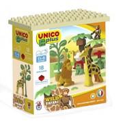 Set constructie cuburi Unico Safari mici 18 piese
