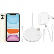 Apple iPhone 11 128 GB Wit + Accessoirepakket Totaal