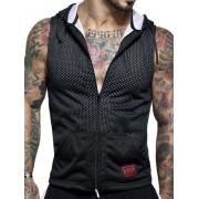 Jack Adams Punt Air Sleeveless Hoodie Sweater Black/White 404-106