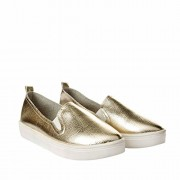 Joker & Witch Classic Gold Slip on Shoes for Women and Girls