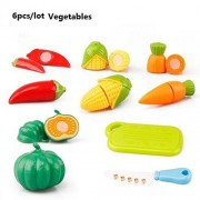 Vagetable Classic Toys Pretend Play Cooking Food Dishes Kids Educational Toy Cook Cosplay Safety