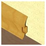 PBC605 - Plinta LINECO din PVC culoare stejar inchis pentru parchet - 60 mm