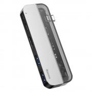 Adaptor HUB Baseus Multifunctional, Apple Macbook USB Type-C HUB CAHUB-TD0G, 2x USB 3.0, Type-C, HDMI 4k
