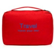 NK-STORE Portable Travel Toiletry Zipper Cosmetic Makeup Pouch Storage Hanging Bag Travel Toiletry Kit(Multicolor)