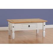 Corona 1 Drawer Coffee Table - Grey/Distressed Waxed Pine