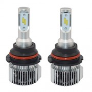 ELECTROPRIME® 1 Pair 9007 HB5 COB LED with Aluminum Alloy Housing Headlight - Pure White