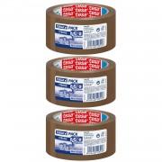 Tesa 8x Tesa verpakkingstape sterk bruin 66 mtr x 50 mm verpakkingsbenodigdheden - Tape (klussen)