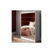 Guarda-Roupas, MDP, 2 Portas, Com Espelho - Madesa Luke Branco