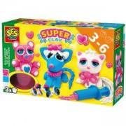 Детски занимателен комплект с пластелин Сладки животни, SES, 080802