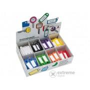 Set brelocuri cu eticheta pentru chei Wedo, 8 culori diferite, 200 buc.