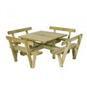 Trendyard Vierkante Picknicktafel Met Rugleuning