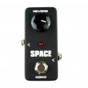 Kokko Frb2 Mini Guitarra Electrica Pedal De Efectos De Sonido De Reverberacion Monoblock Espacio (negro)