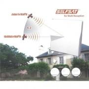 SELFSAT H50M2 platt antenn ta emot två satellit positioner