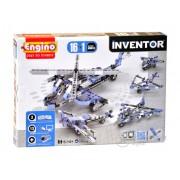 Set de montare modele Engino Inventor, Avioane, 16 in 1